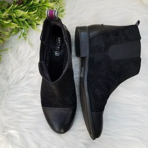Sperry Top Sider Ainslie Black Ankle Boot 8.5M
